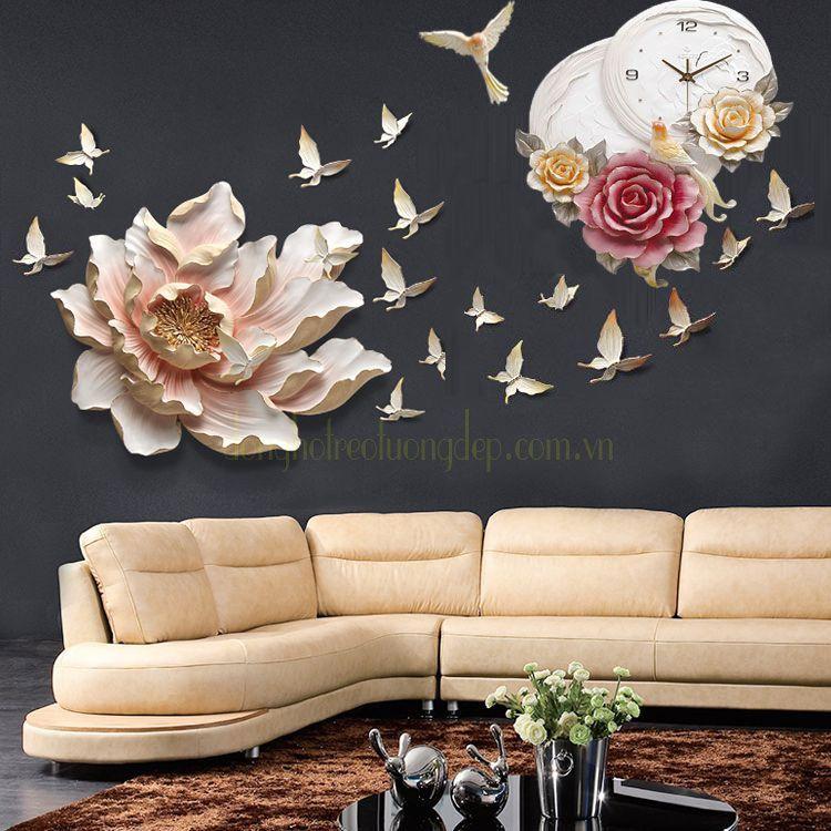 Đồng hồ treo tường cao cấp tôn vẻ đẹp nội thất ZB0011A_DIY01A