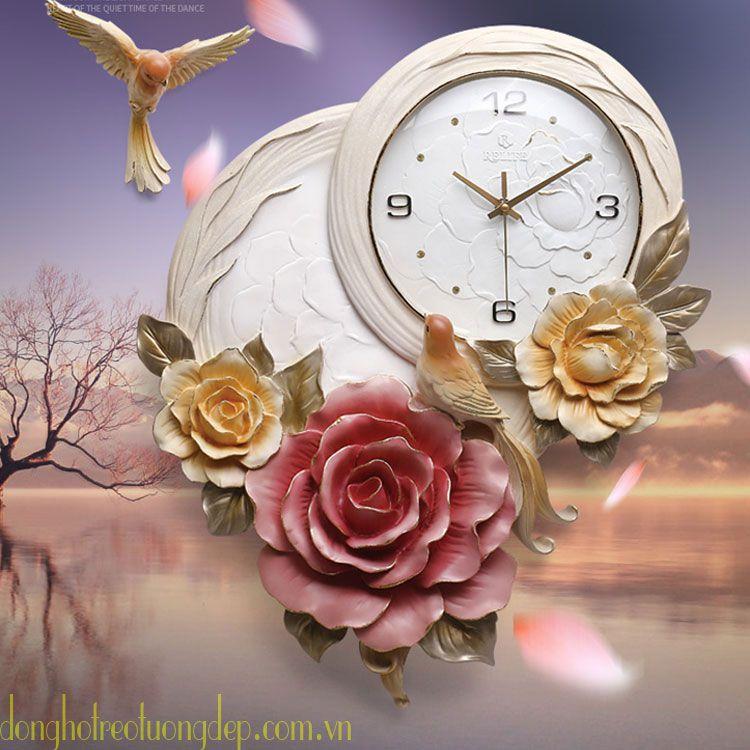 Đồng hồ treo tường đẹp sang trọng hiện đại ZB0011A