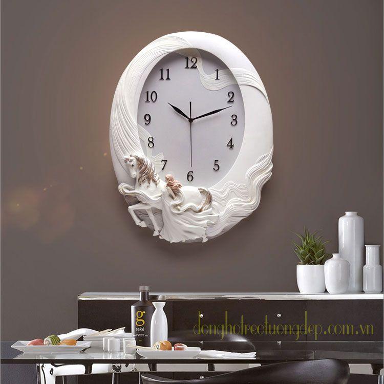Đồng hồ nghệ thuật treo tường cặp Song Mã ZB0021B
