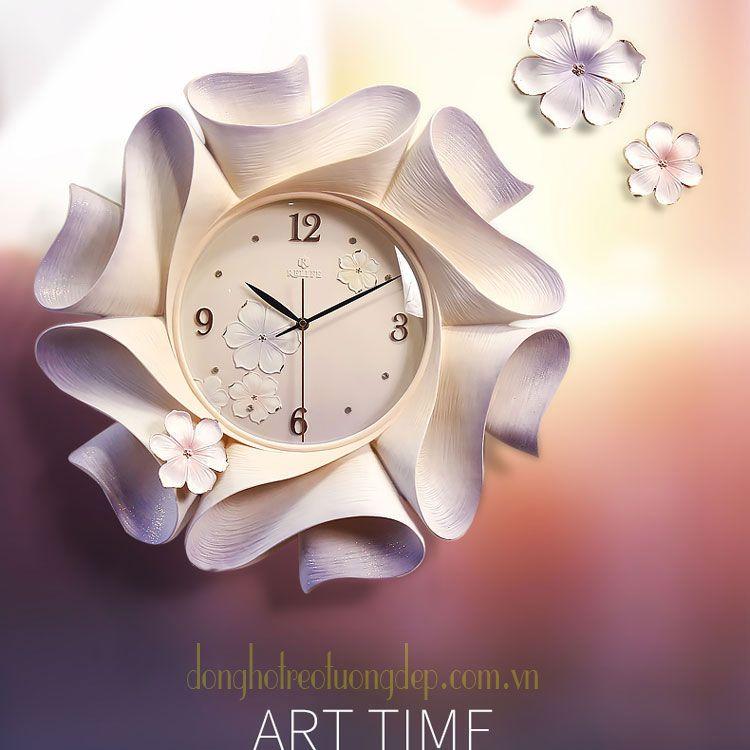 đồng hồ treo tường nghệ thuật đẹp zb0022a
