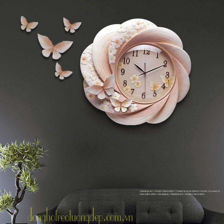 đồng hồ treo tường nghệ thuật phòng khách
