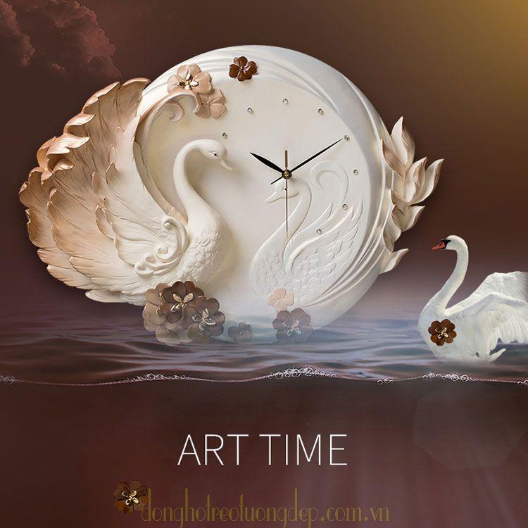 Đồng hồ treo tường nghệ thuật tinh tế đẳng cấp ZB0043B