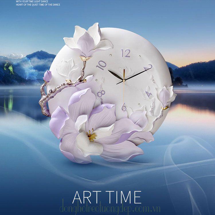 đồng hồ nghệ thuậ hoa