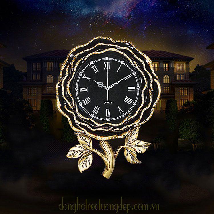 Đồng hồ treo tường tân cổ điển đẹp cho mọi không gian DHD051