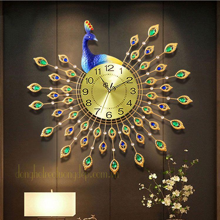 Đồng hồ treo tường con công DHD008