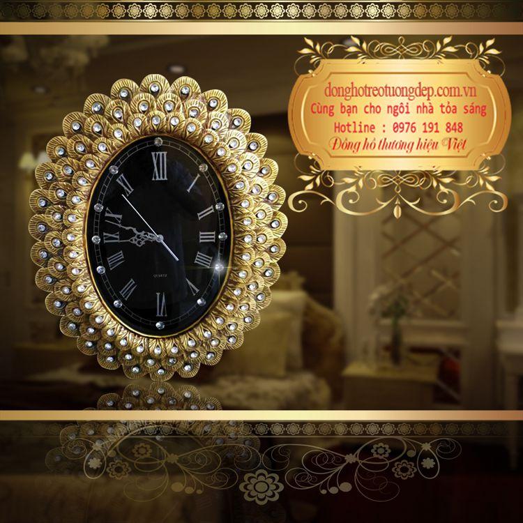 Đồng hồ treo tường tân cổ điển phong cách châu âu DHD059