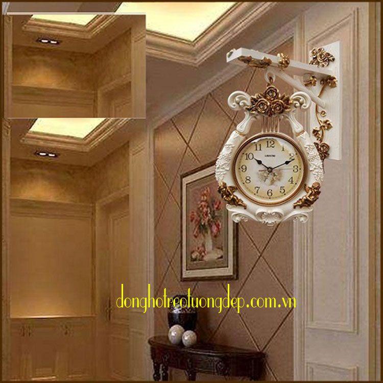 Đồng hồ treo tường hai mặt trang trí HM003