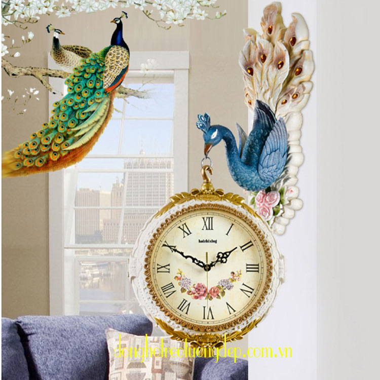 Đồng hồ treo tường 2 mặt đẹp HM004